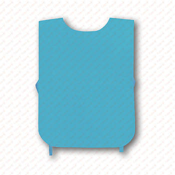 Рекламна манижка колір БЛАКИТНИЙ (рекламний жилет, промо накидка, манижка промоутера)