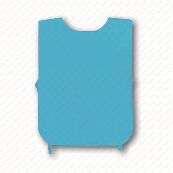 Рекламная манижка цвет ГОЛУБОЙ (рекламный жилет, промо накидка, манижка промоутера)