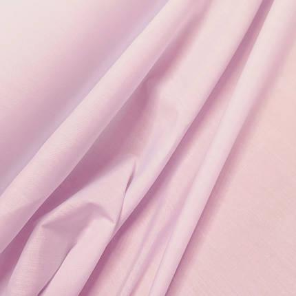 Рубашечная ткань поплин розовый, фото 2