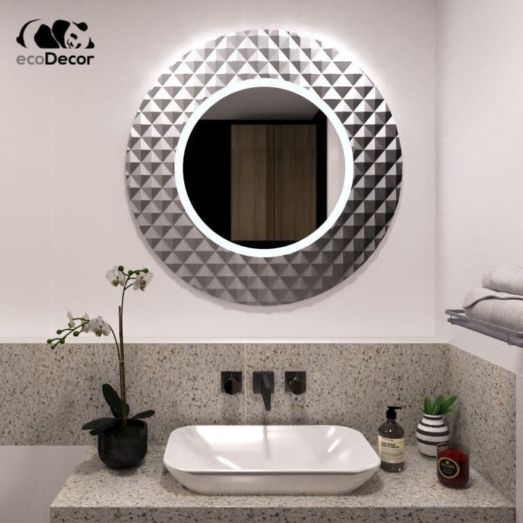 Зеркало с подсветкой серебряное Dublin