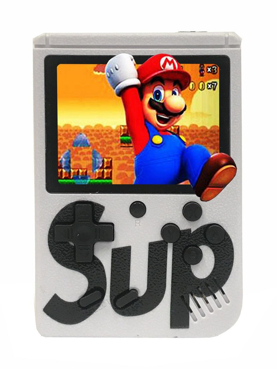 Портативная ретро приставка Retro Gamebox Sup 400 in 1 денди карманная игровая 8 бит Белая (NS)