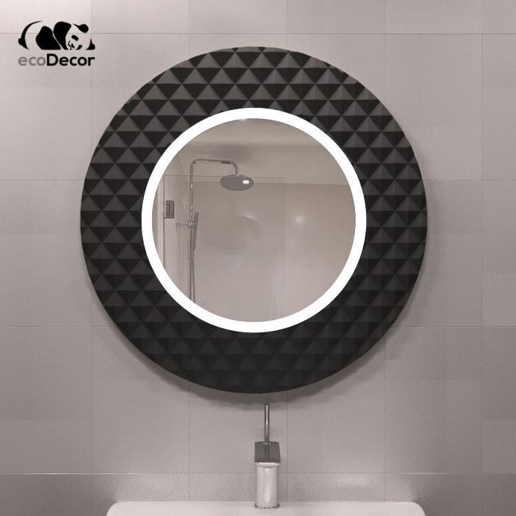 Зеркало с подсветкой черное Dublin