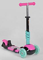 Детский самокат Scooter 5 в 1, самокат беговел с сиденьем и родительской ручкой - Розовый, фото 3