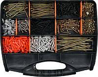 Шурупы к дереву и металлу и дюбели , набор 770 шт. Vorel 24111