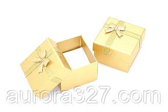 Паперова коробка для кілець або сережок,золото.