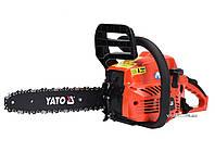 """Цепная бензопила 37.2 см3 1.3 кВт шина 14"""" (33 см) Yato YT-84895, фото 1"""