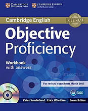 Objective Proficiency Second Edition Workbook with answers + Audio CD / Рабочая тетрадь