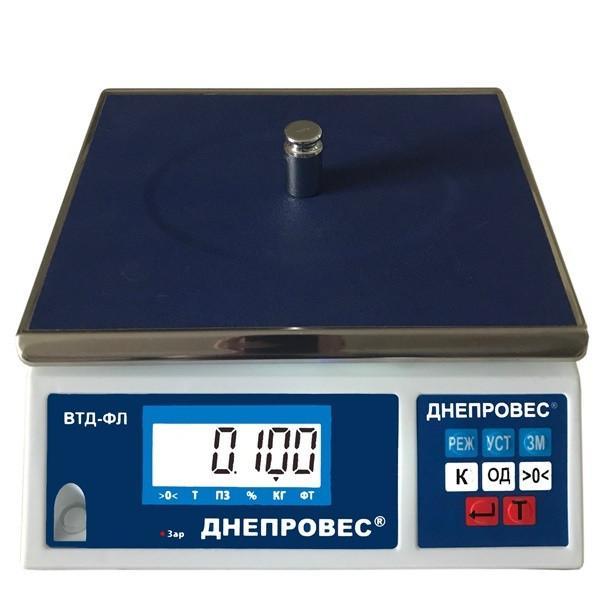 Весы фасовочные Днепровес ВТД-ФЛ (15 кг)