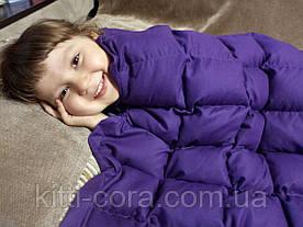 Полуторное утяжеленное одеяло. 130х180см, 6кг, с наполнителем из гречневой лузги (шелухи).