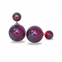 Серьги шары Dior цвет винный хамелеон