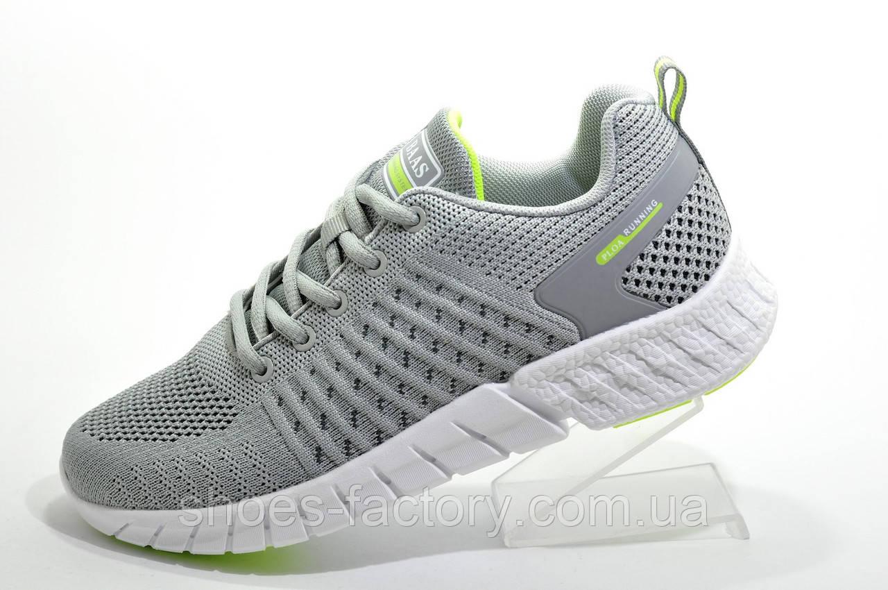 Летние женские кроссовки Baas Ploa Running, Gray\White\Lime
