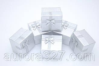 Ккоробочка для кілець і сережок папір срібло.