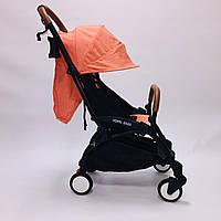 Коляска YOYA 175A+2020 Оранжевая .гарантия 12 месяцев.большой дождевик