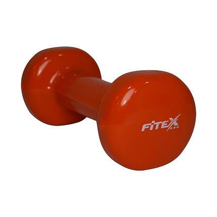 Гантель виниловая Fitex MD2015-1V, 1 кг, фото 2