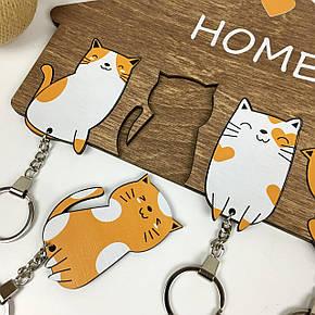 Ключница настенная, оригинальная деревянная ключница с милыми котиками, фото 2