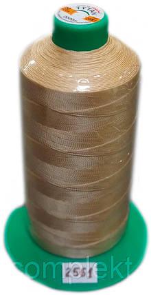 Нить Титан №20 2000 м. Польша цвет (2561) бежевий., фото 2