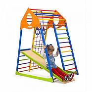 Развивающий спортивный комплекс с горкой для квартиры SportBaby KindWood Color Разноцветный («KindWood Colors»), фото 2