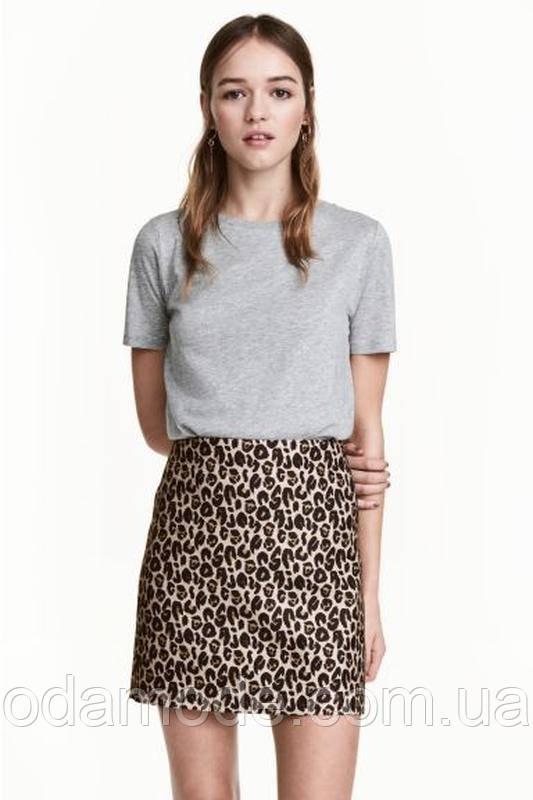 Женская юбка леопардоваяминиH&M