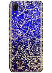 Прозрачный силиконовый чехол iSwag для Blackview A60 с рисунком - Золотая мандала H568, КОД: 1429030