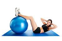 Фитбол Мяч для фитнеса 75 см Profiball для гимнастики пилатеса похудения беременных детей Голубой