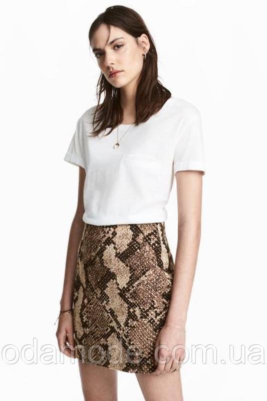 Спідниця жіноча міні зі зміїним принтом H&M