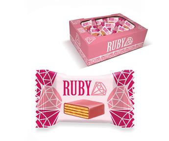 """Вафельные конфеты """"Ruby"""" вафельные глазированные кондитерской глазурью - 1кг"""