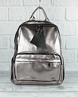Вместительный рюкзак Farfalla Rosso 3078 темное серебро большого размера, фото 1