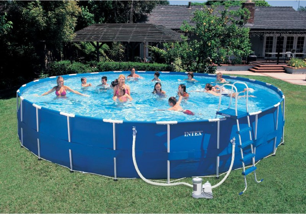 Каркасный бассейн Intex Metal Frame Pool 28226 732 см х 132 см