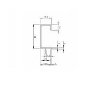 Ручка профиль H3 (алюминий BRUSH) / H=42 мм 18 мм / 2,97 м / ZOBAL, фото 2