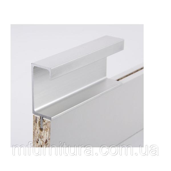 Ручка профиль H3 (алюминий BRUSH) / H=42 мм 18 мм / 2,97 м / ZOBAL