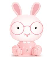 Детский светильник ночник Adenki Кролик Розовый 36-145868, КОД: 1098658