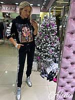 Женский стильный спортивный костюм Батал, фото 1