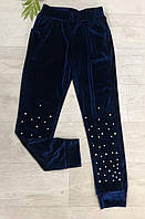 Спортивные велюровые штаны для девочек, Seagull, 164 см,  № CSQ-52122