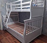 """Кровать двухъярусная деревянная """"Беатрис"""" массив дерева"""
