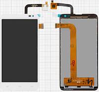 Дисплейный модуль (экран и сенсор) для Fly IQ4514 Quad EVO Tech 4, оригинал, белый