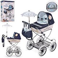 Коляска складная с сумкой и зонтиком для куклы Романтик DeCuevas 81020 высота 81 см