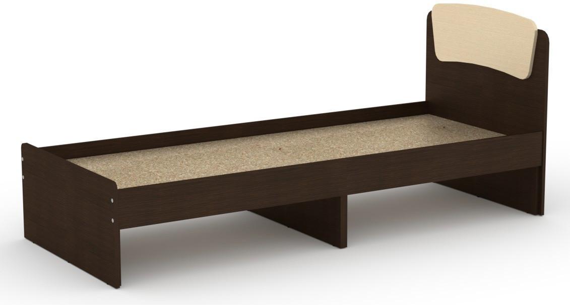 Кровать без ящиков Классика-80 КОМПАНИТ Венге комби (204.2х85.2х86 см)