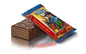 """Вафельные конфеты """"Веселый Гулливер"""" в кондитерской глазури."""