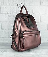 Вместительный рюкзак Farfalla Rosso 3078 бронза большого размера, фото 1