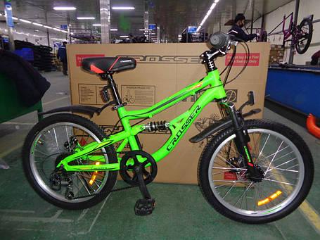 """Спортивный горный велосипед Crosser Legion 20 дюймов размер рамы 12"""" ORANGE, фото 2"""