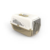 Переноска для домашних животных котов Panzer Бело-горчичный 10567WG, КОД: 1618861