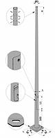 Опора круглая оцинкованная - 10AS 60/190 - F(3)