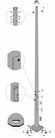 Опора круглая оцинкованная - 11AS 62/205 - F(4)