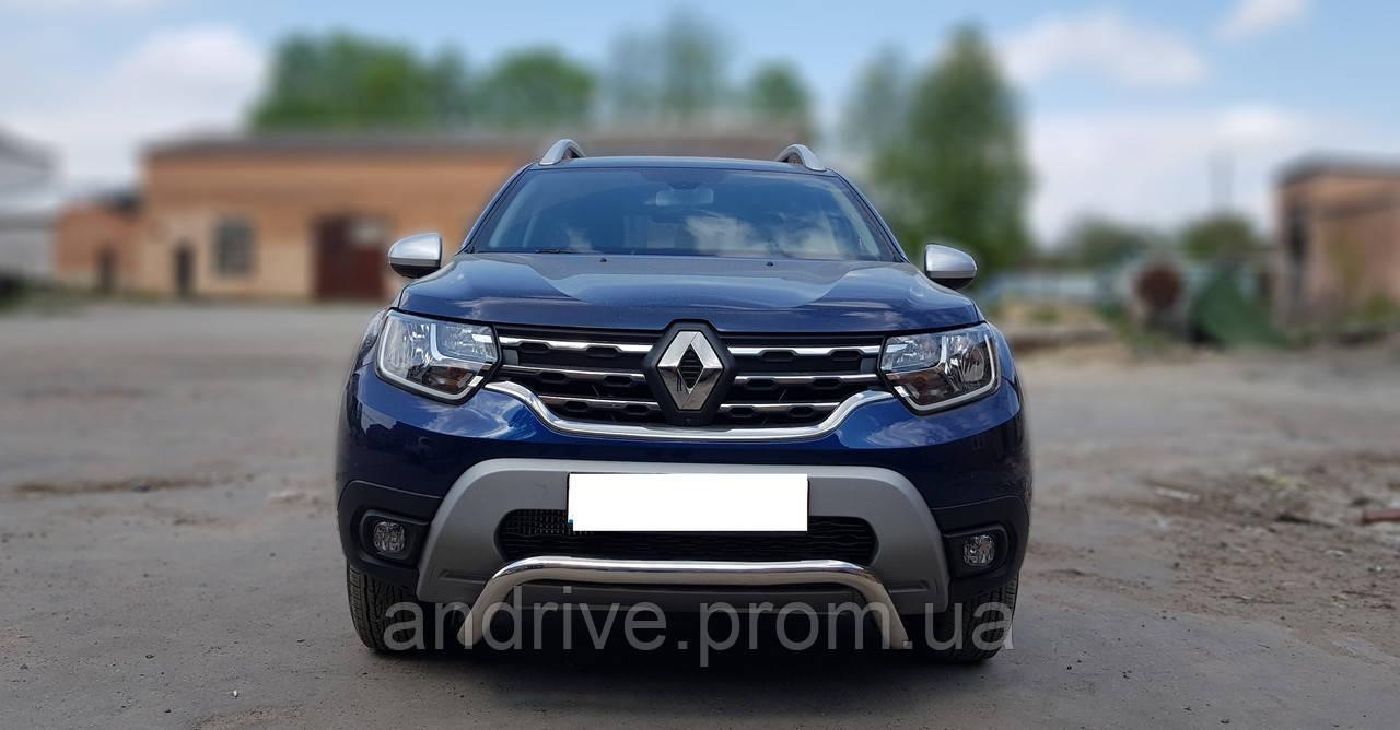 Кенгурятник без гриля (защита переднего бампера) Renault Duster 2018+