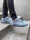 Мужские кроссовки Adidas Yeezy PA82 голубые, фото 3