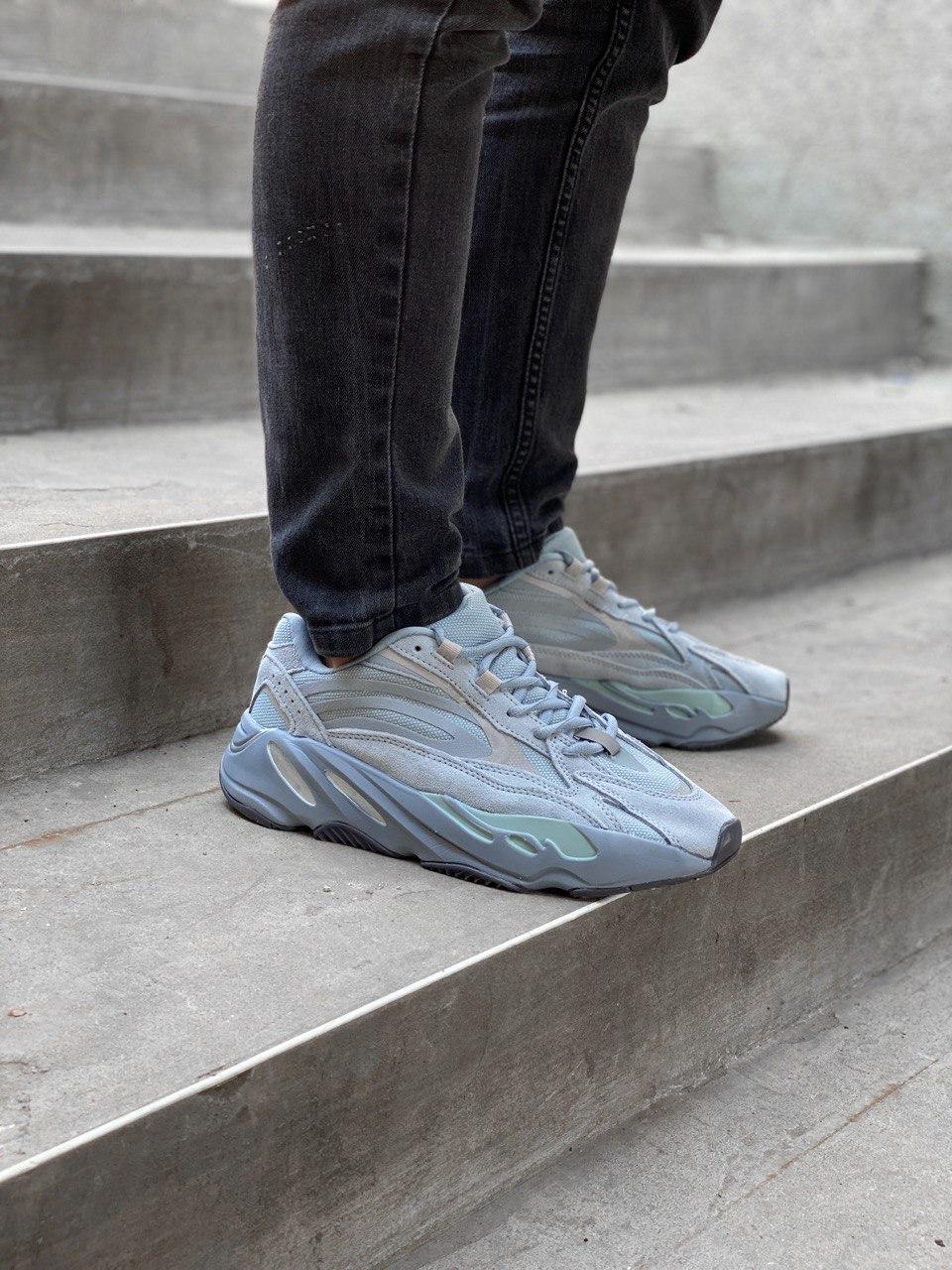 Мужские кроссовки Adidas Yeezy PA82 голубые