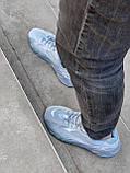Мужские кроссовки Adidas Yeezy PA82 голубые, фото 7