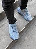 Мужские кроссовки Adidas Yeezy PA82 голубые, фото 5