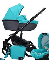 Универсальная детская коляска 2в1 Mikrus Genua 2 (Бирюзовый)