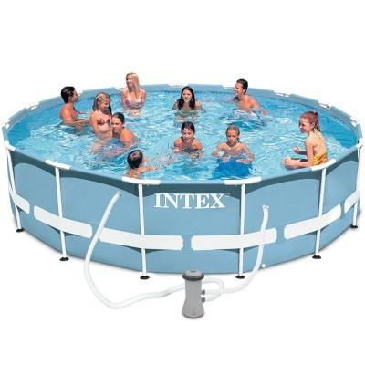 Каркасный бассейн Intex Prism Frame Pool 26716 366 см х 99 см с фильтрующим насосом и лестницей
